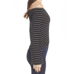 bp Tops - NWT BP. Twist Front Long Sleeve Off Shoulder Top